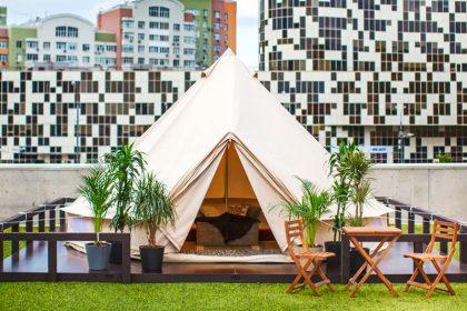 На крыше ТЦ «Авиапарк» откроют палаточный лагерь