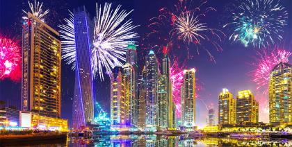 Весь январь в Дубае будут греметь праздничные салюты