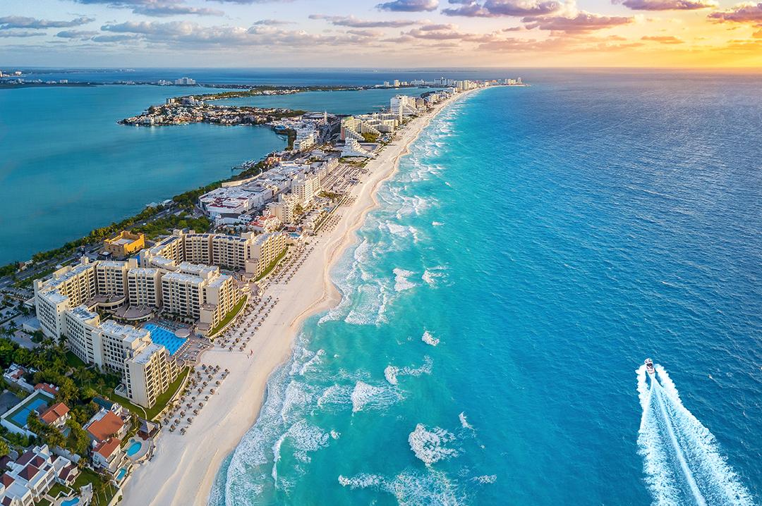 картинка фотография курорта Канкун в Мексике