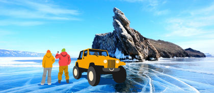 Лёд как искусство: едем на зимний Байкал